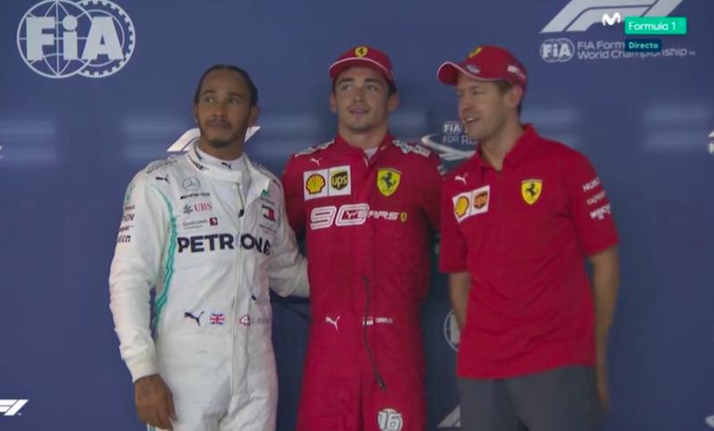 Los tres hombres más rápidos en Singapur.