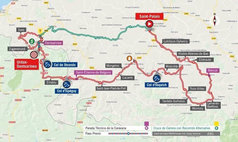 RECORRIDO de la 11ª etapa de la Vuelta 2019