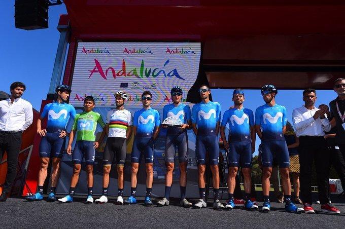 MOVISTAR lidera un día más la clasificación por equipos de la Vuelta a España 2019