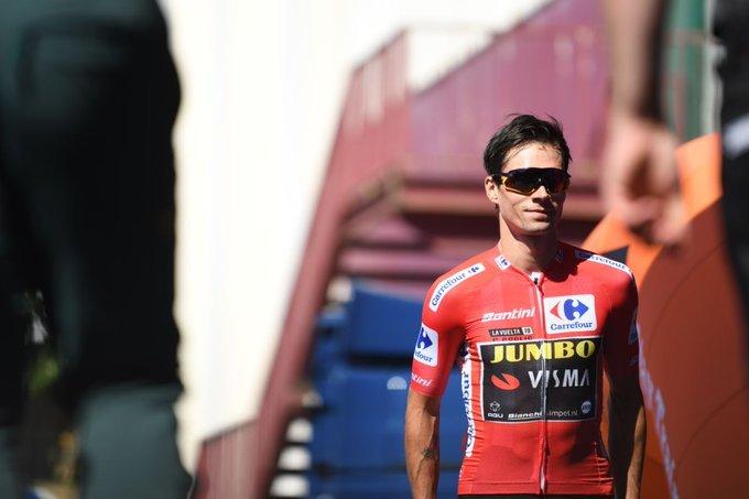 PRIMOZ ROGLIC (Jumbo Visma) puede tener un día muy tranquilo como portador del maillot rojo de la Vuelta a España
