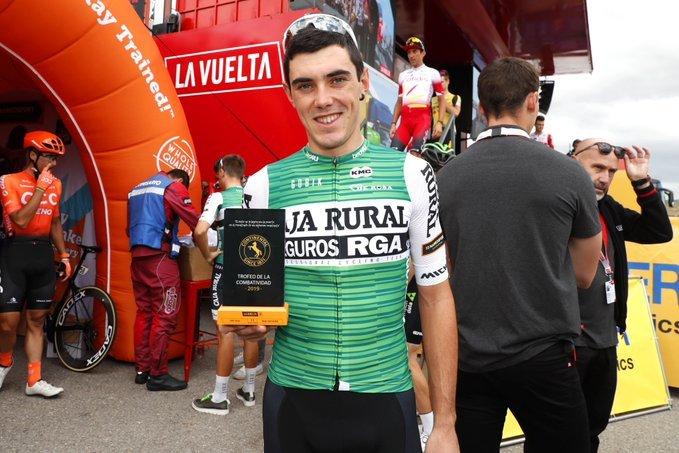 ALEX ARANBURU fue premiado ayer como ciclista más combativo del día. ¿Lo volverá a intentar el vasco en Bilbao?