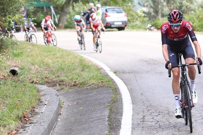 WOUT POELS (Ineos), el más insistente en este inicio de la 13ª etapa de la Vuelta a España