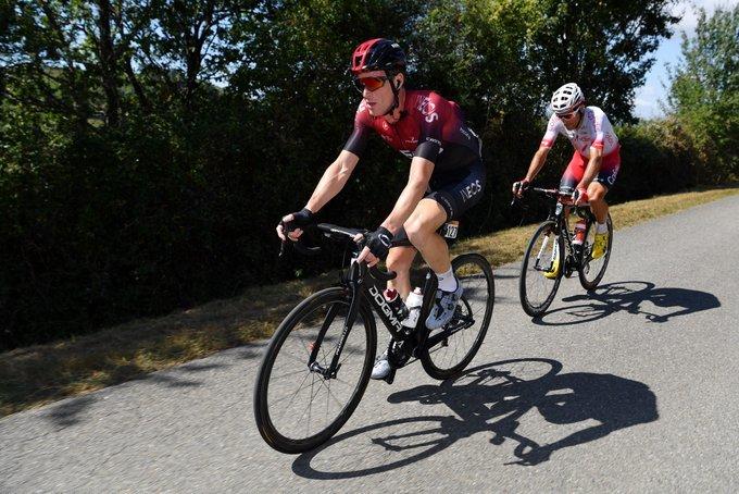 SALVATORE PUCCIO (Ineos) es uno de los integrantes de la escapada en la Vuelta a España