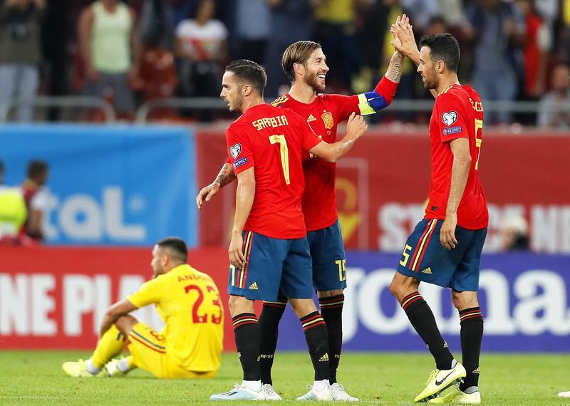Imagen del España-Rumanía