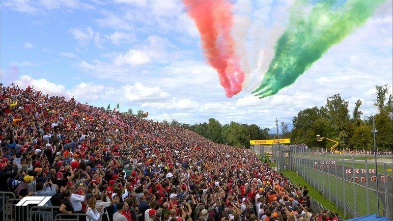 El espectáculo de la F1, en Monza