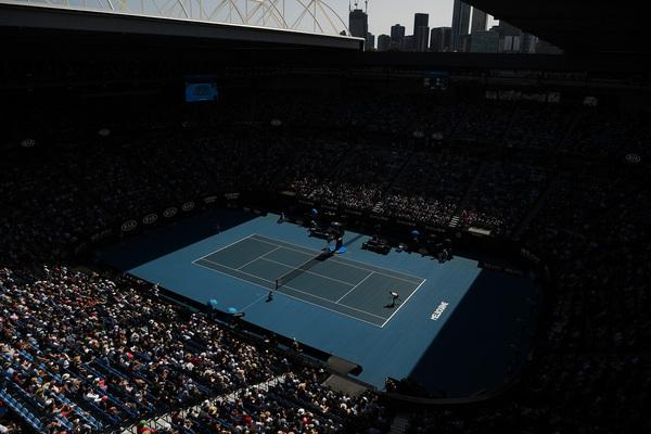 Vista del Rod Laver Arena, el estadio principal de Melbourne Park FOTO: GETTY