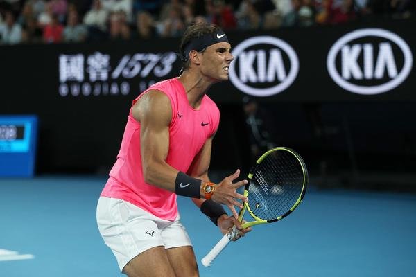 Nadal, partido a tope contra Kyrgios, uno de sus enemigos más temibles FOTO: GETTY