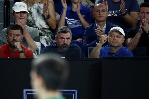 El equipo técnico de Novak Djokovic FOTO: GETTY