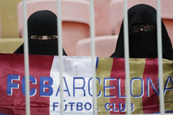 Más afición del Barça en la grada del King Abdullah Stadium FOTO: AP