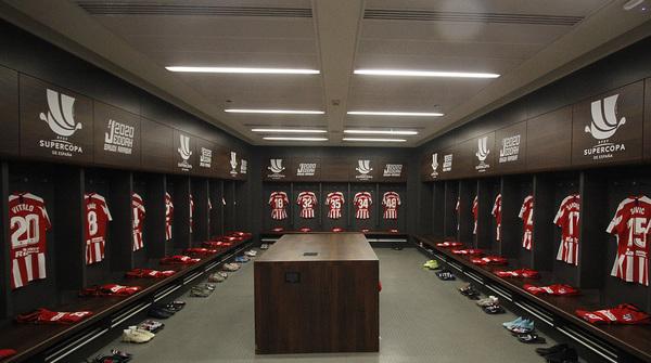 El vestuario del Atlético antes de la final FOTO: @Atleti