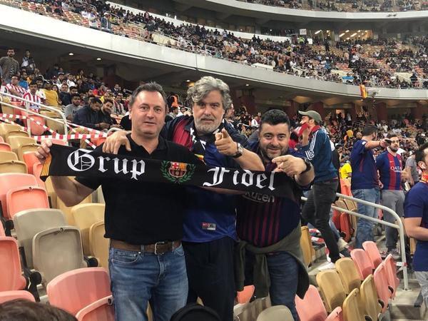 Aficionados del Barça desplazados desde Catalunya FOTO: FERRAN MARTÍNEZ