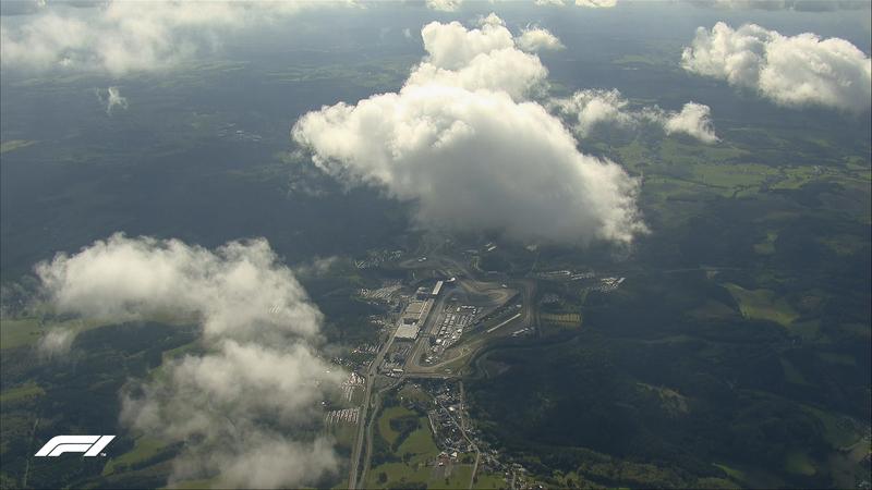 Así se ve el Circuito de Nürburgring, en las montañas del Eifel, desde el aire. (@F1)