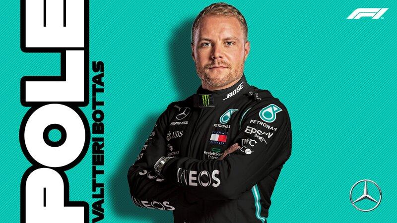 Valtteri Bottas consigue la pole position en la clasificación del GP de Eifel de F1