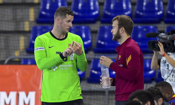 Kevin Möller y Gonzalo, la pareja de porteros del Barça