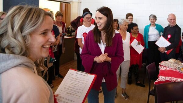 Jacinda Ardern on polling day