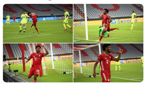 Desde otro punto de vista. El gol de Coman (FOTO: Bayern)