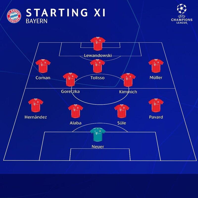 El dibujo Bayern, ligeramente diferente a lo que suele ser habitual.