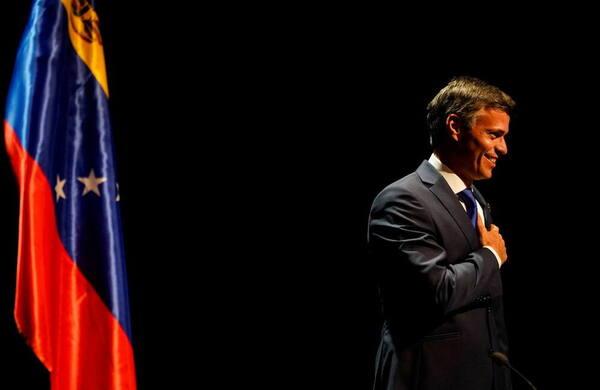 El opositor venezolano Leopoldo López, en el Círculo de Bellas Artes de Madrid.  Foto: Reuters