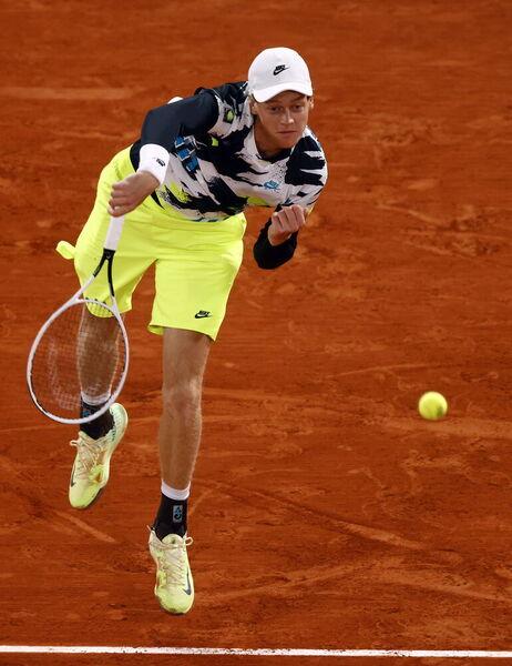 El italiano Jannik Sinner, 19 años. Mejor Debutante de la pasada temporada, según votación de sus colegas tenistas FOTO: EFE
