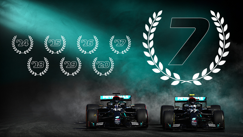 7 Campeonatos consecutivos, el nuevo récord de Mercedes