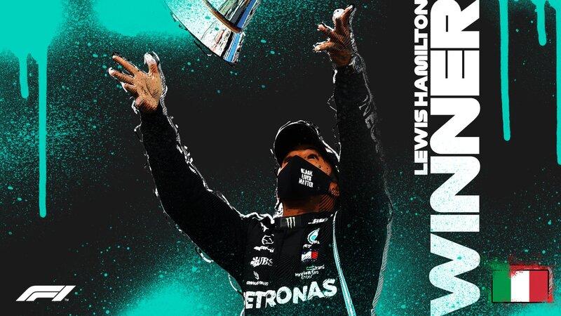 El ganador del GP de Emilia Romagna: Lewis Hamilton. Es su victoria número 93 en la Fórmula 1.