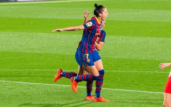 Jennifer Hermoso celebra su gol FOTO: FCB