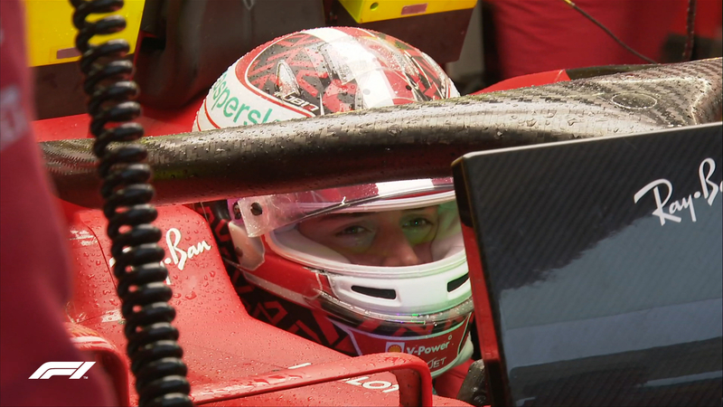 Charles Leclerc, entre los pilotos que ahora mismo se quedarían sin Q2.