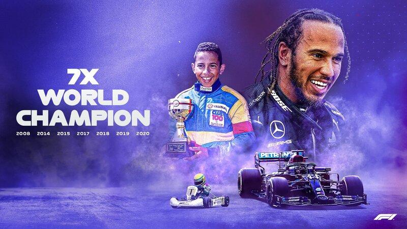 Lewis Hamilton consigue su séptimo título de Campeón del Mundo de Fórmula 1. Un día histórico para la Fórmula 1. (@F1)