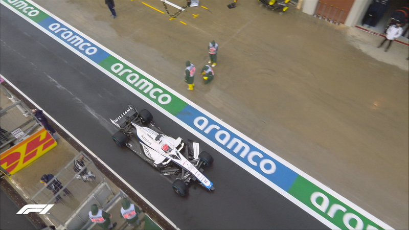 Así ha acabado el Williams de Russell tras su choque en la vuelta de instalación