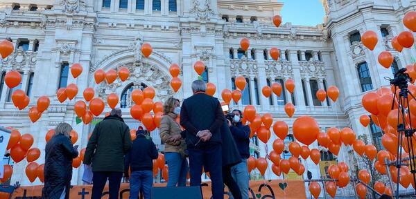 Everything prepared in Cibeles for the reading of the manifesto