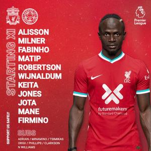 XI Titular del Liverpool
