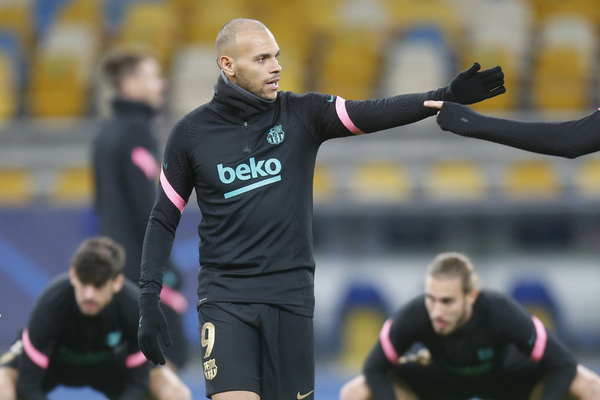 Martin Braithwaite, otra de las grandes novedades del once del Barça en Kiev FOTO: AP