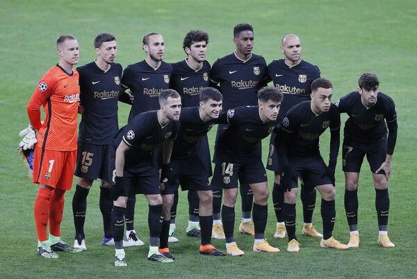 Once del Barça ante el Dinamo de Kiev FOTO: EFE