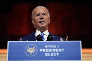 President-elect Joe Biden speaks at The Queen theater in Delaware