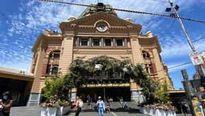 A picture of Flinders Street station