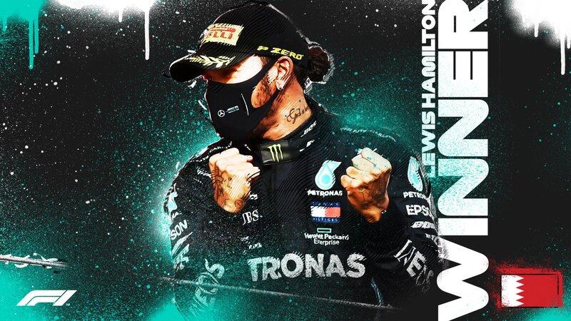 El ganador del GP de Bahrein: Lewis Hamilton
