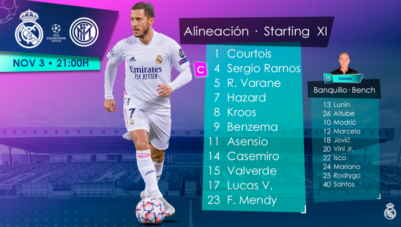 Once titular del Real Madrid