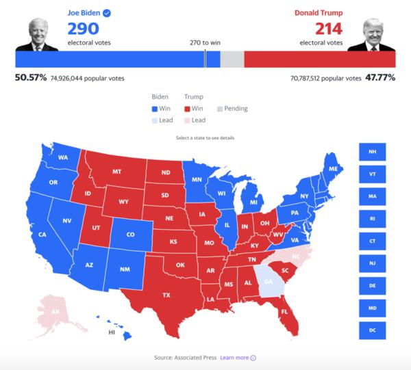 Biden wins 2020 presidential election: Live coverage