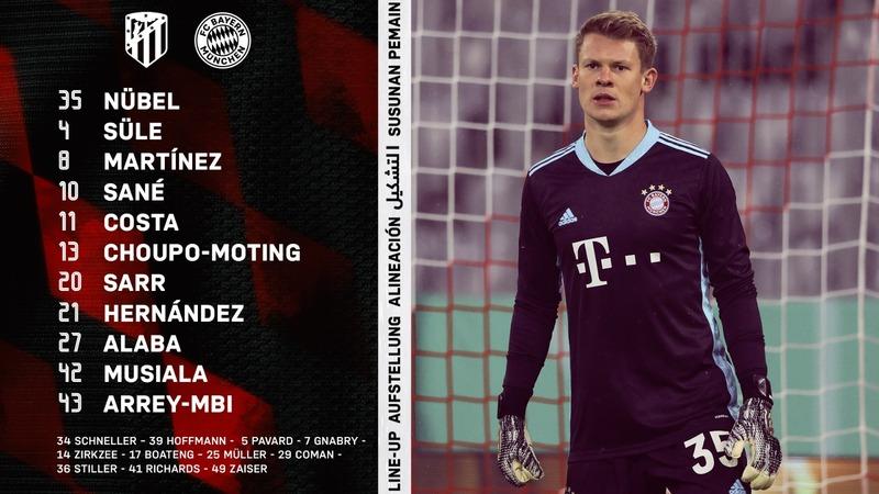 El once del Bayern.
