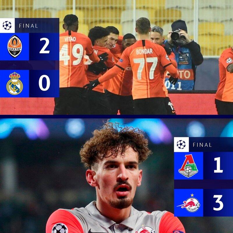 Los dos partidos ya acabados. (Foto: @LigadeCampeones)