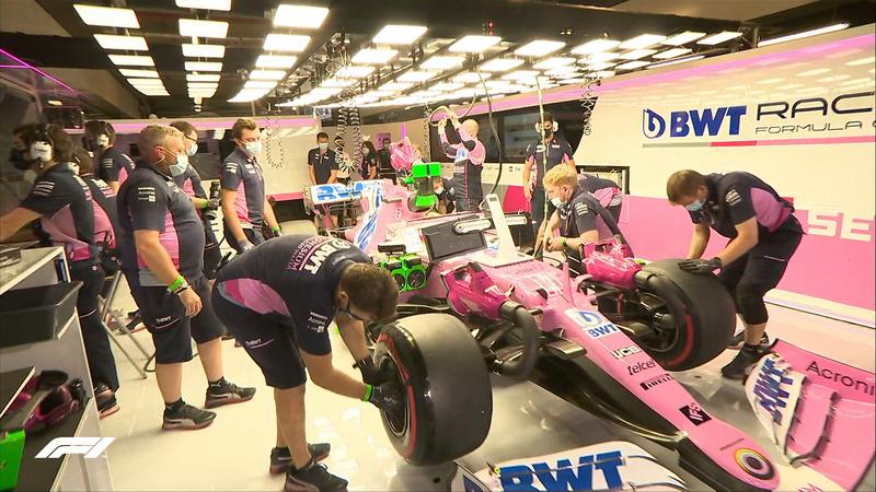Pérez, el ganador del pasado GP, se ha quedado sin dar ninguna vuelta en la Q2. Mañana sale último.