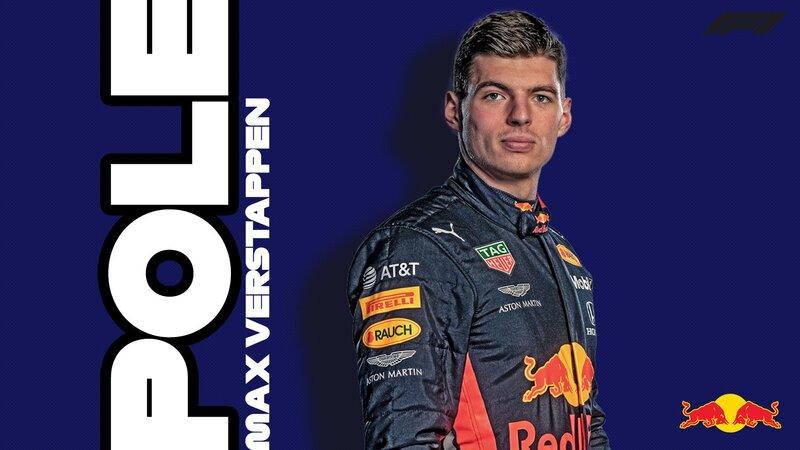 Vuestro poleman de hoy: Max Verstappen. Es la tercera pole position de su carrera.
