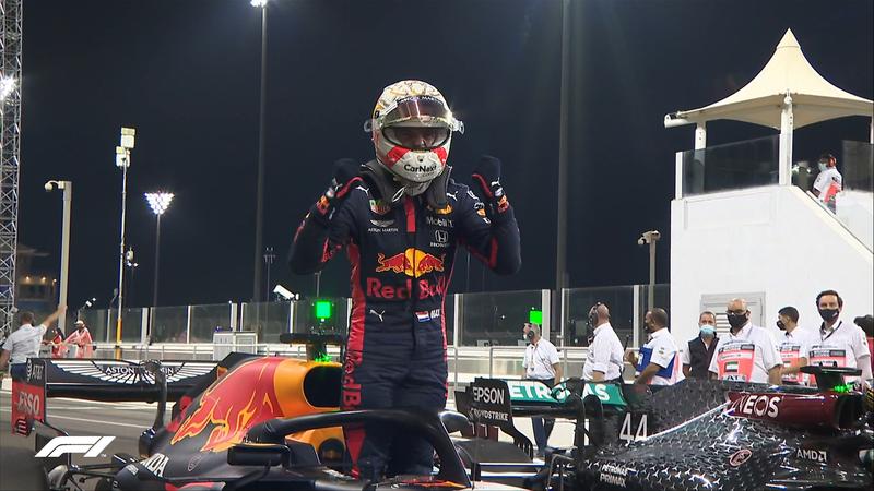 Verstappen, eufórico tras su primera pole del año.