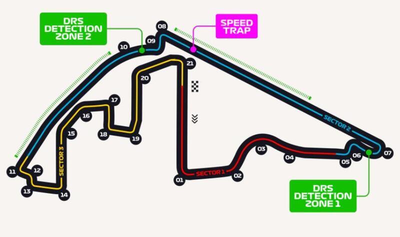 Así es el trazado de Yas Marina, la sede de la última cita del año en la Fórmula 1.