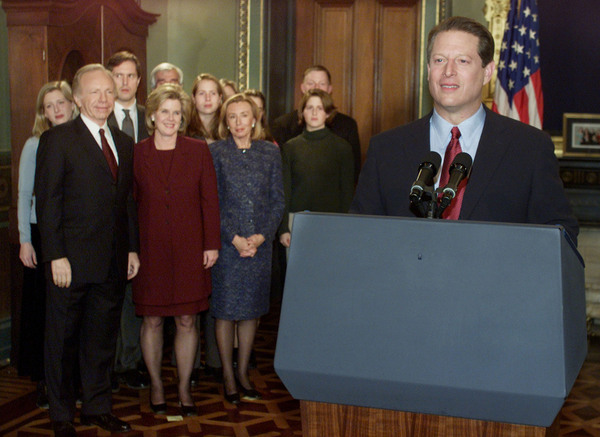 Al Gore gives a concession speech.