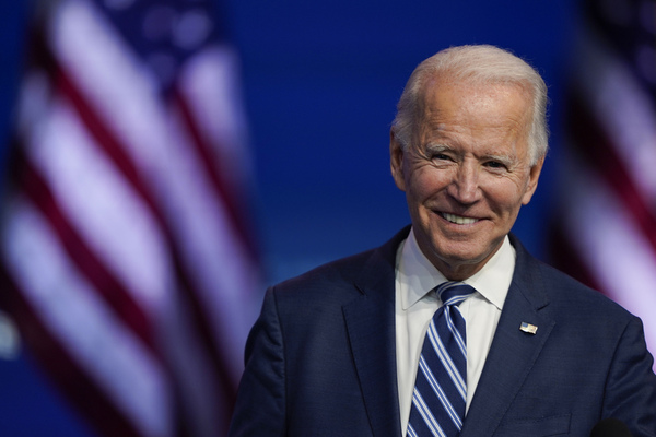 president elect joe biden smiles