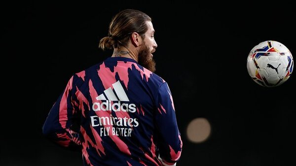 Ramos, calentando
