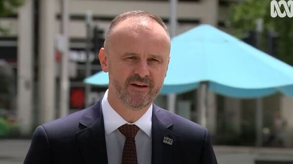 ACT Chief Minister Andrew Barr speaking to media on December 30, 2020.