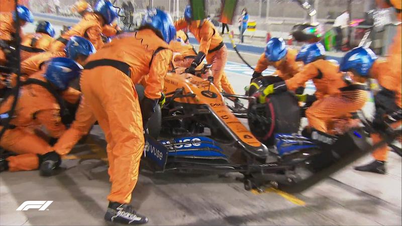 La parada de Sainz en boxes. Carlos está ahora mismo séptimo.