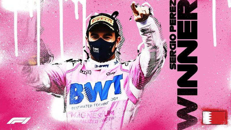 Por primera vez, Checo Pérez cruza primero la línea de meta en un Gran Premio de F1. Y lo acaba de hacer hoy, en el GP de Sakhir.